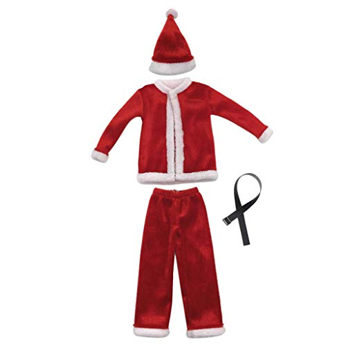 (Homyl 1/6 Frauen Weihnachten Kostüm Bodysuits Kleidung für 12 Zoll Action Figuren)
