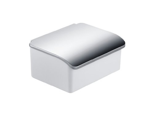Keuco 11667013000 Elegance - Dispensador de toallitas húmedas (porcelana, cromado), color blanco