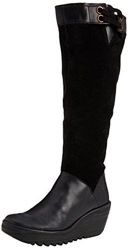 London Futter Yafe Kniehohe Schwarz Stiefel Damen Dünnem schwarz schwarz Fly Mit d7ASwZWqd