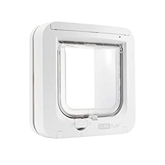 SureFlap Cat Flap with Microchip Identification, White (4 x AA batteries required) 11