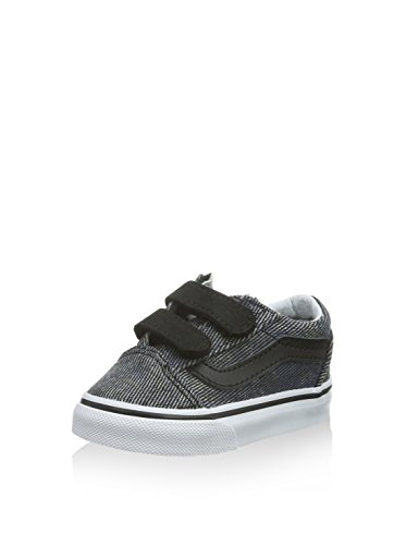 Vans Old Skool V - Scarpe Primi Passi Unisex – Bimbi 0-24, Grigio (c&l/silver Sconce/stripe Denim), 19 EU Nero (acid Denim/navy/black)
