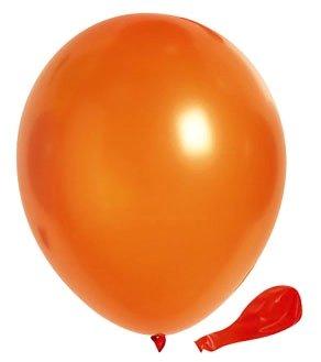Sachet 25 ballons Opaques 25cm, Orange 25cm