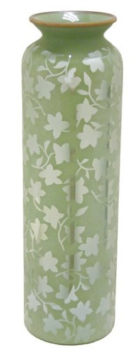 Renaissance 2000 Deko-Glas Vase, 12,7cm von 42,9cm von 12,7cm von 42,9cm, grün