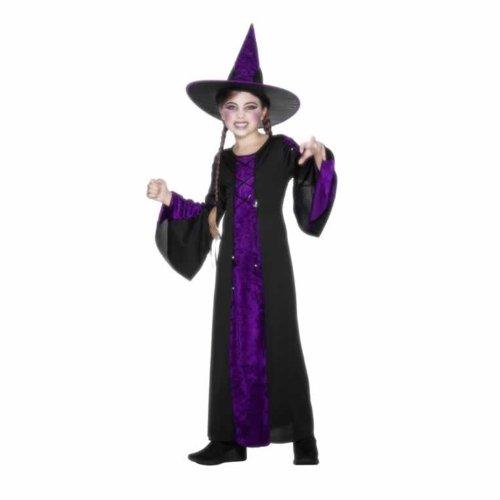 Smiffys Kinder Verzaubert Kostüm, Kleid und Hut, Größe: S, 25073S (Zauberhafte Hexe Kind Kostüme)