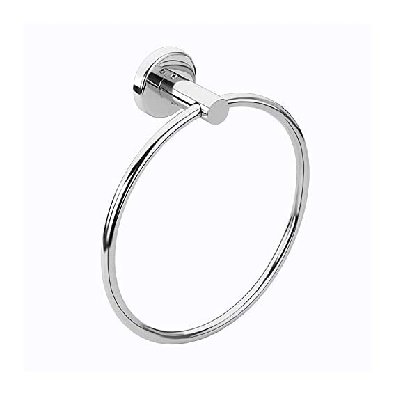 SBD Banka Napkin & Towel Ring/Rod of Stainless Steel 202 (Silver)