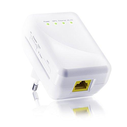 CSL - WLAN de 300 Mbit / repetidor WiFi / punto de acceso WLAN /cliente 11n 2T2R | amplificador de WLAN | frecuencia de 2,4 GHz | 3 modos de servicio (repetidor, punto de acceso, cliente) | asignación de IP por DHCP | 2T2R MIMO | tecla WPS (Wi-Fi Protected Setup) | cifrado WEP, WPA, WPA2 |
