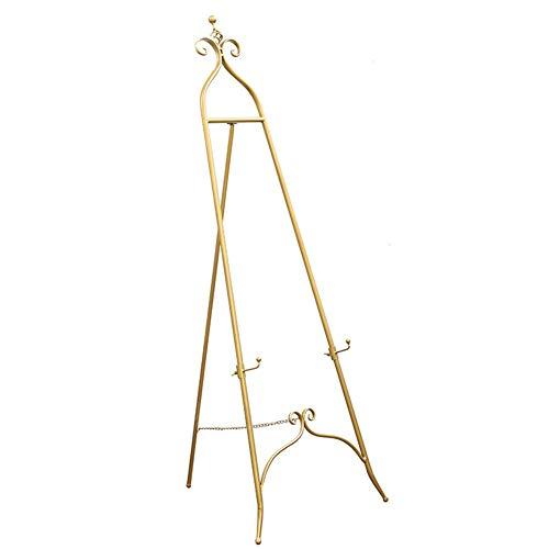 Staffelei Metall verstellbare, 120cm Höhe Geeignet for alle Arten von Kunstwerken Hochzeit Display Gemälde Ausstellung Vertikale (Color : Gold)
