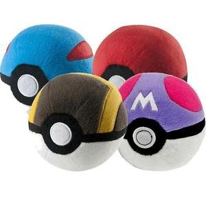 Preisvergleich Produktbild Pokemon t18552d3Poke Ball Plüsch Single sortiert Ball Lieferung zufällig