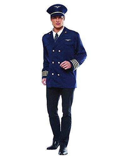 Erwachsener Männern Airline Pilot Kostüm Kapitän Stewardess -