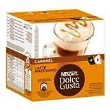 Nescafe Dolce Gusto Caramel Latte Macchiato, 4 Packungen (64 Kapseln, 32 Getränke)