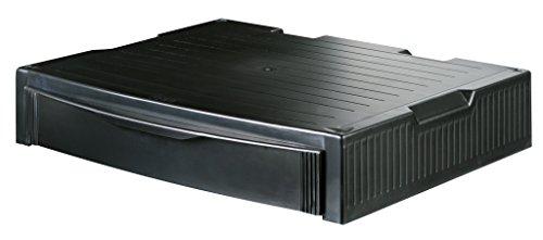 HAN 9250-13, MONITOR STAND, Profi Monitorständer mit 1 Schublade, Stabil, Schick und stapelbar, schwarz -