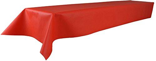 Öko-Tex 100, abwaschbar, (Farbe + Größe wählbar), rot, 1m x 2,5m, Bierzeltgarnitur, Tischtuch, Tischwäsche, stoffähnliches Vlies, Party, Catering, Vereinsfeier, Geburtstagsfeier (Rotes Papier Tischdecken)