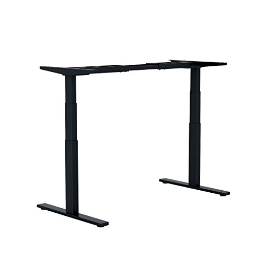 DEVAISE Electric Height Adjustable Standing Desk Frame Only with Memory Controller; General Voltage, All-Steel, Dual motor, 108~180cm Wide, Black on Line