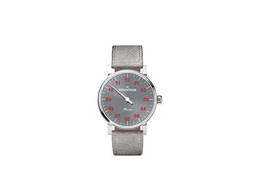 MEISTERSINGER UNISEX PHANERO 35MM GREY LEATHER BAND MECHANICAL WATCH PH307R