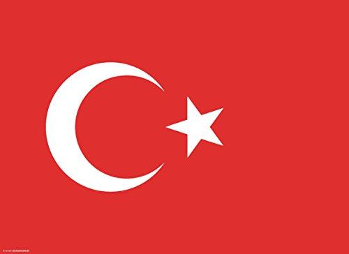 Tischsets | Platzsets Türkische Flagge - 10 Stück in hochwertiger Aufbewahrungsmappe