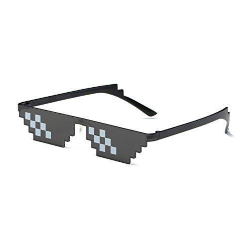 MinegRong Sonnenbrille Männer Thug Life Brille Frauen 2018 Hot Plus Size Minecraft polygonalen 8 Bit Stil Pixel mit Nase Pad, JY010 Verkaufen
