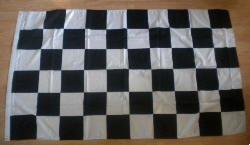 Motif échiquier noir et blanc Grand Drapeau 152 x.