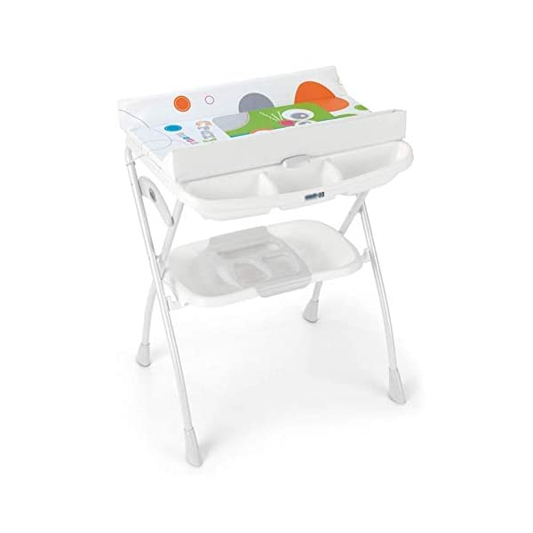 Changing Table Baby Changing Table Diaper Station Folding Nursery Dresser Organizer for Infant Save Space for 0-3 Years Old (Color : A) Changing Table ●Foldable changing table- Easily fold it if you finish all the tasks,With its space saving design, you can store it behind a door, it will make life a little easier for parents. ●Size and Safe and Stable- L78 x W68 x H103cm,Suitable for babies weighing less than 25kg,With seat belt,Changing pad has a restraining strap for added safety and is made of easy to clean, soft ●2-in-1 design- Baby changing table can be used as baby massaging table as well. It is designed at the proper height of parent to prevent mom's back aches and pains from kneeling or bending when changing diapers to babies. 1