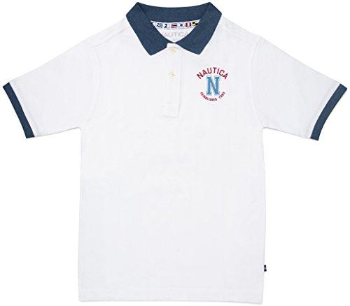 Nautica Jungen 81700Q Polo Hemd - weiß - Large (Nautica Hemd Jungen Weißes)
