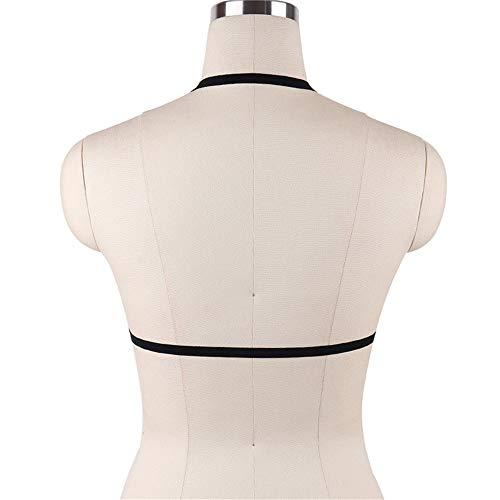QinWenYan Träger Bandage Aushöhlen Erotik-top Damen Body Harness BH Punk Gothic Gürtel Unterwäsche Accessoires Größe Kann Angepasst Werden (Color : Black, Size : Free Size) - 4