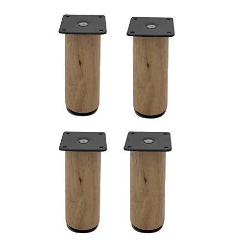 Massivholz Theke Höhe Tisch (Massivholz Möbelfüße,4 Stück Möbel Riser Zubehör Bolzen Montageplatte Schrauben Tischbeine Für Schlafsofa Tisch Clear-12CM)