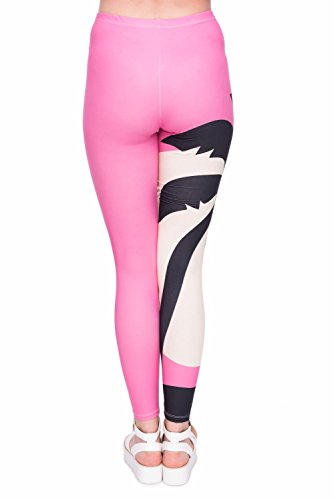 Kukubird Verschiedene Einhorn Flamingo Emoji Patterns Frauen Gym Fitness Leggings Running Yoga Pilates Skinny Hosen Strumpfhosen Größe 8 bis 12 Stretchable Pink Sunset