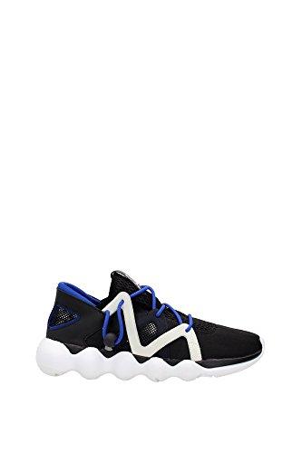 Sneakers Yamamoto Y3 Herren Stoff Schwarz, Grau und Blau KYUJOAQ5548CBLACK Schwarz 43 1/3EU