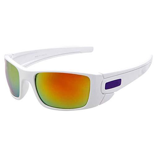 Yiph-Sunglass Sonnenbrillen Mode Polarisierende Persönlichkeit Mann Sport Sonnenbrille Radfahren Sportbrille Sonnenbrille (Farbe : Weiß)