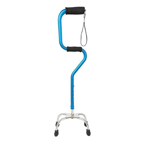 EGCLJ Älterer Spazierstock - Quad Cane - Rutschfeste Vierbein-Krücken - Aluminium-Reisehilfe - 4 Spitzen - Behinderte, Ältere Menschen - 220-Pfund-Kapazität - Quad Faltbare Cane