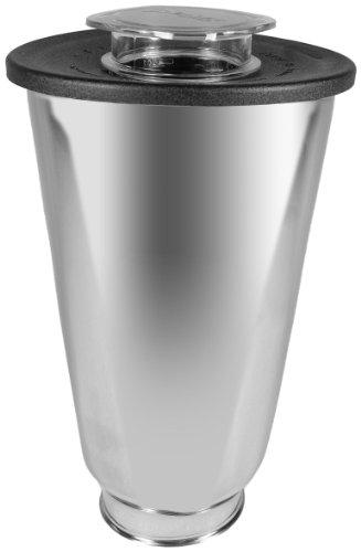 Oster 004887-050-000 - Jarra de acero inoxidable redonda 5 tazas (1.25 l) con tapa redonda, color negro y tapón de llenado