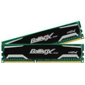 Crucial Ballistix Sport 4GB (2GBx2) DDR3 1600MHz CL9 1.5V UDIMM 4 GB - Module (4 GB, 2 x 2 GB, DDR3, 1600 MHz, 240-Pin DIMM)