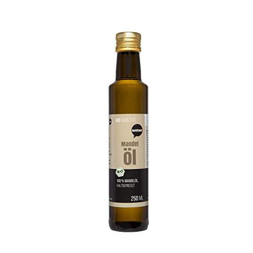 Wohltuer Bio Mandelöl - Nativ gepresst und 100% rein - Natur pur (2 Flaschen a 250ml = 500 ml)