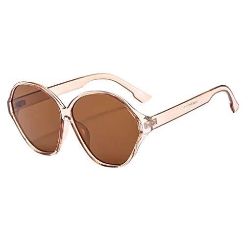 fazry Männer Frauen ovalen Rahmen Retro Fashion Sonnenbrillen Brillen(D)