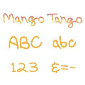 Sizzix 654395 Sizzlits Alphabet Set 35 Stanzformen Mango Tango by Scrappy Cat -