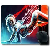 Cyborg Fille Grande Gaming Mouse Pad