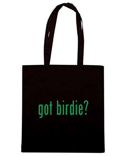 T-Shirtshock - Borsa Shopping OLDENG00518 got birdie Nero