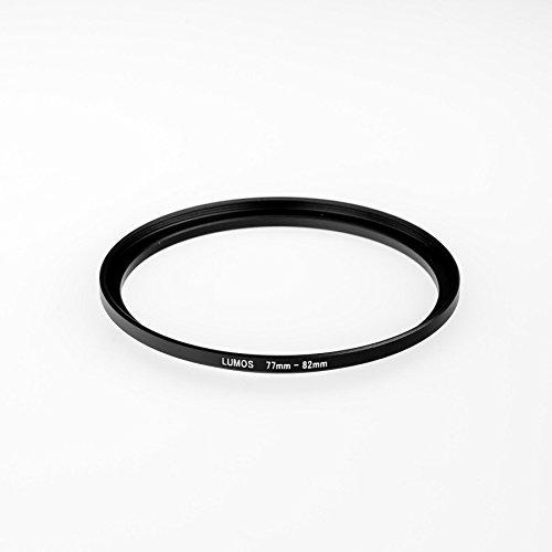 LUMOS step up Adapter Ring Filteradapter 77-82 | Metall Adapterring von Kamera Objektiv mit 77mm Filtergewinde auf 82mm Zubehör Filter (Mm Ring 77)