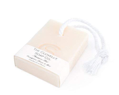 Clovelly Soap | Natürliche Shampoo-Seife mit einer kleinen Schnur | Alle Hauttypen | 100 g | Handgefertigt in Großbritannien mit 100% Naturprodukten | Sanfte Feuchtigkeitsversorgung -