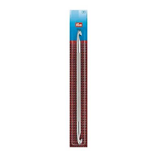 Prym Aguja de ganchillo tunecino doble, metal, Multicolor, 12mm, 25cm de longitud