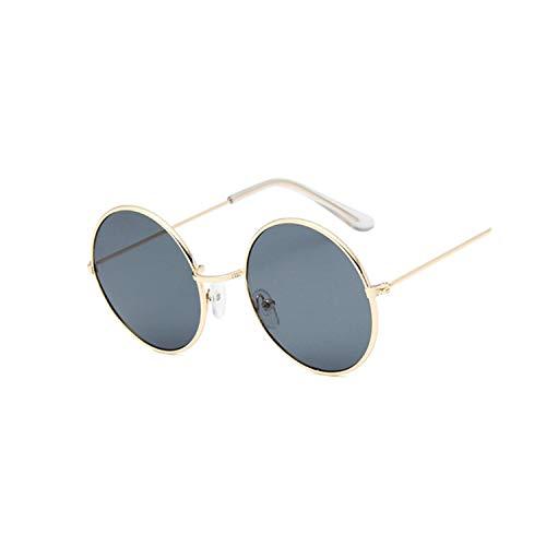 Sportbrillen, Angeln Golfbrille,NEW Retro Round Pink Sunglasses Women Brand Designer Sun Glasses For Women Alloy Mirror Female Oculos De Sol Black GoldGray