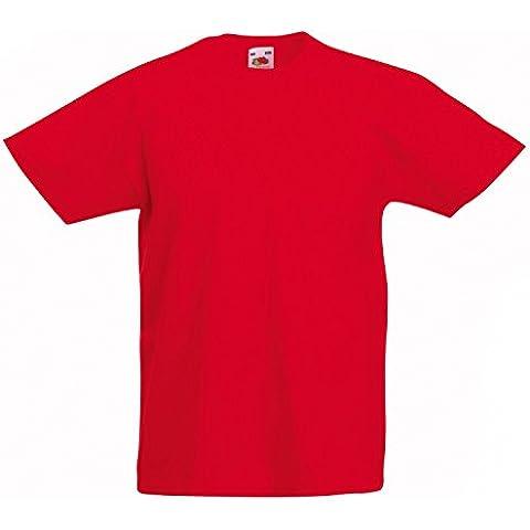 Fruit of the Loom infantil con forma de/Plain T-Shirt para niños, T-Shirt, camiseta de manga corta