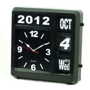 Pendule quartz horloge mural avec calendrier perpetuel for Calendrier electronique mural francais
