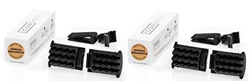 Millefiori Milano-Carga Serie Icon para ambientador coche aroma Sándalo Bergamota 2paquetes