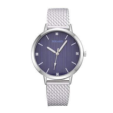 XKC-watches Herrenuhren, Damen Armbanduhr Quartz Armbanduhren für den Alltag Plastic Band Analog Modisch Minimalistisch Schwarz/Weiß/Silber - Rot Rosa Hellblau (Farbe : Leicht Blau)