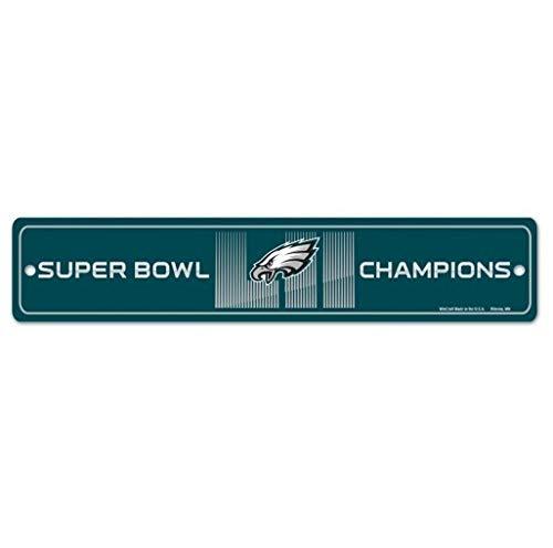 WinCraft NFL PHILADELPHIA EAGLES Super Bowl 52 Street Sign Champions Schild -