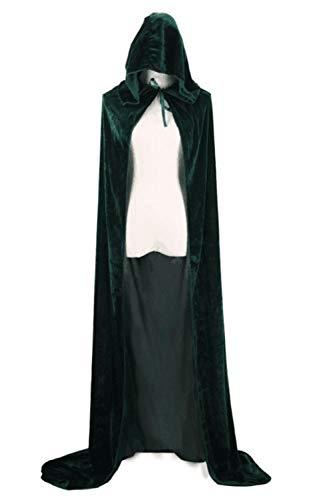 Grüne Kostüm Cape - yulinge Frauen Halloween - Umhang Kapuzen - Kostüm Cosplay Cape Und Größe grüne XXL