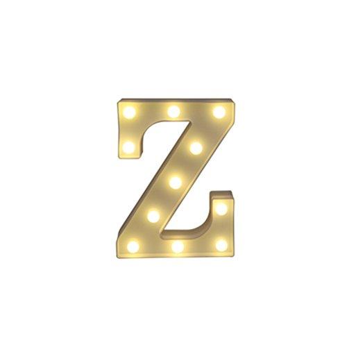 LEDMOMO LED-Marquee-Buchstaben-Lichter Alphabet-Leuchten-Zeichen-Dekoration für Halloween-Festival-Partei-Hochzeits-Dekoration (Z)