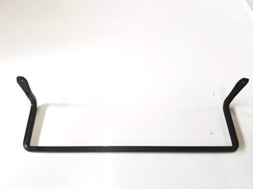 Handtuchhalter aus Schmiedeeisen, mit schönem schwarzem Finish, ca. 41 m Stange, handgefertigt von Amish of Lancaster County PA. -