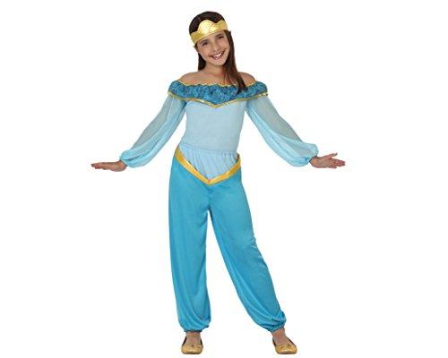 Atosa 26413 - princesa árabe, chica, tamaño 104, de color azul claro