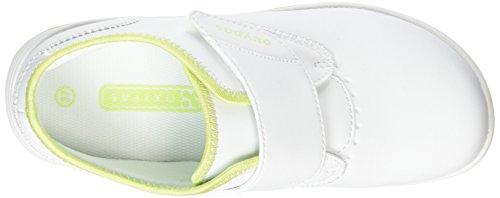 Oxypas Medilogic Emily Slip-resistant, Antistatic Nursing Shoe, White (Lic), 3.5 UK (36 EU) Bianco (White/Yellow)